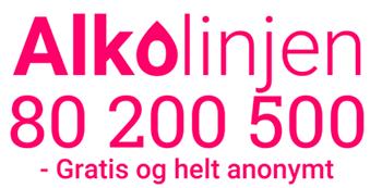 logo og telefonnummer til Alkolinjen