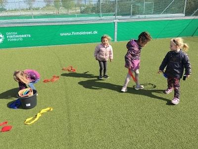 Billede fra idrætsbørnehaven Ta Fat - idræt