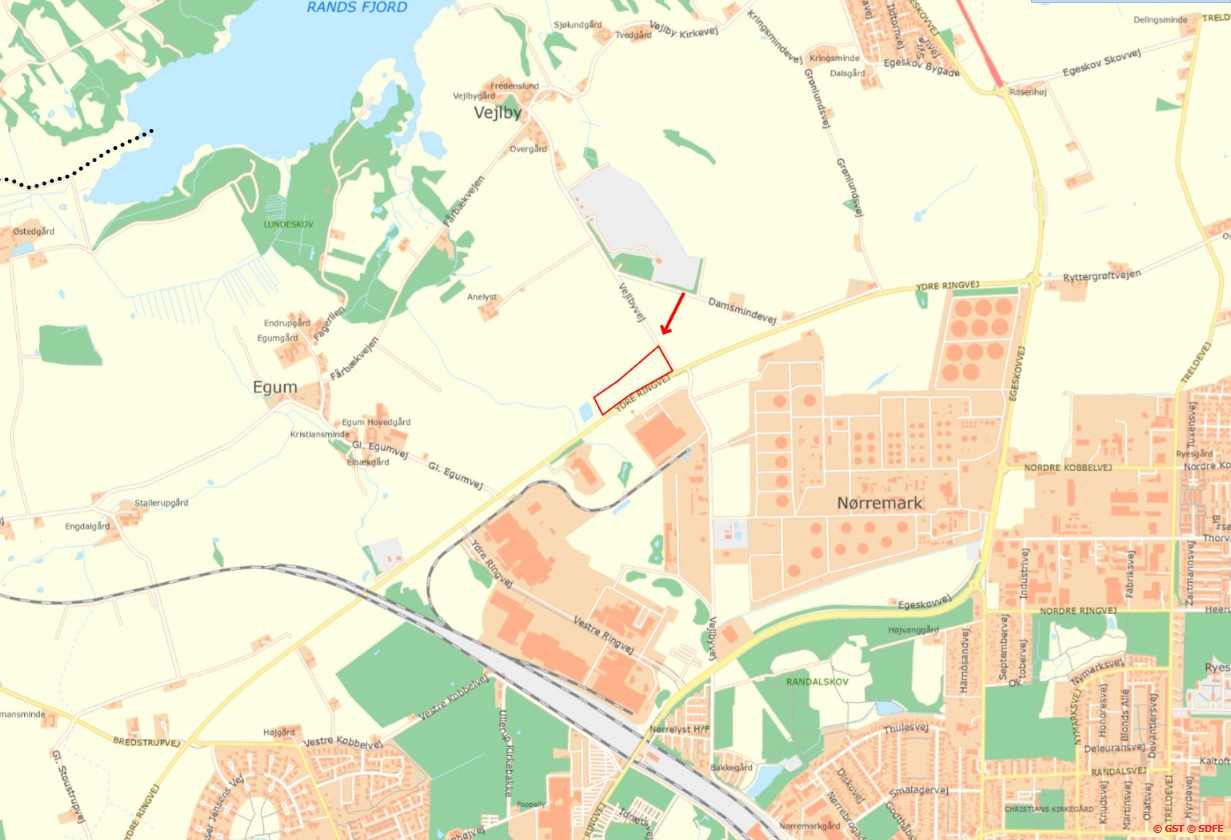 Folkeskov i Fredericia_kort