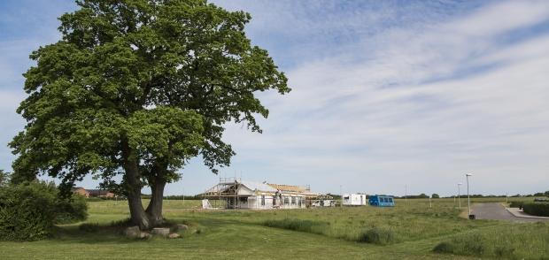 Foto ved parcelhusgrunde på Sivvænget i Pjedsted