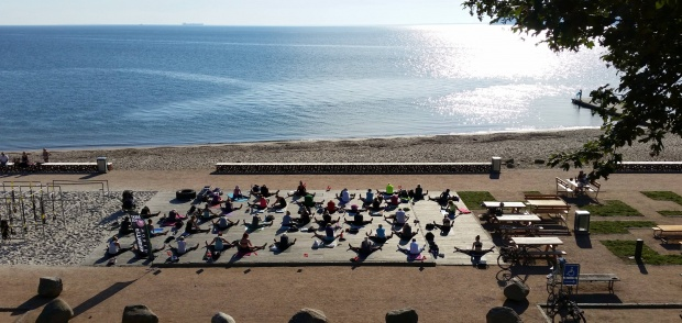 yoga på Østerstrand