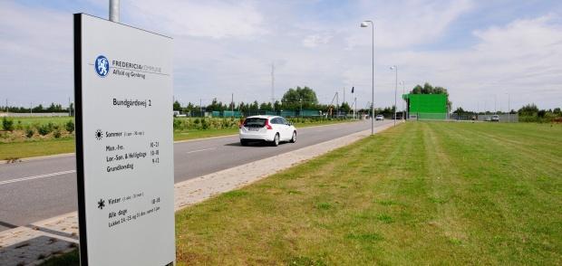 Billede af Fredericia Kommunes genbrugsplads på Bundgårdsvej