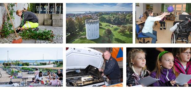 collage med diverse billede fra kommunen