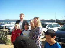 Værtsfamilie med barn fra Ilulissat