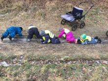 Naturdagplejebørn på glat is