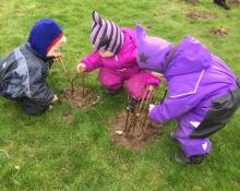 Naturdagplejebørn i naturen