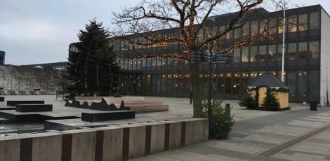 Fredericia Rådhus i december