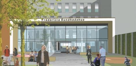 Nyt indgangsparti på sundhedshuset