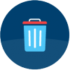 Symbol til teksten Affald og miljø